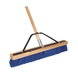 "DQB 24"" STEEL BLUE HD POLY SWEEP WITH HANDLE"