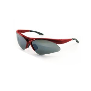 Diamondback Safety Glasses - Red Frame Shade
